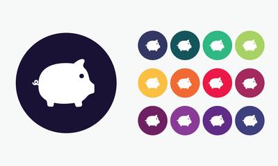 Piggy bank. Payment symbol.