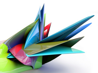 abstract colored 3d shape