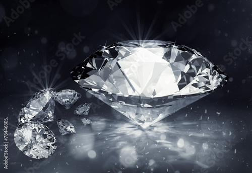 diamonds on dark background - 78446805
