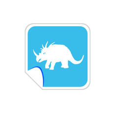 baby dinosaur vector on blue