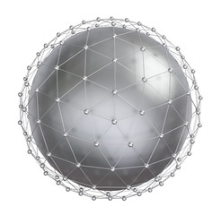 metal sphere with connected dots