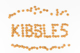 KIBBLES, formed using actual dog food kibbles poster