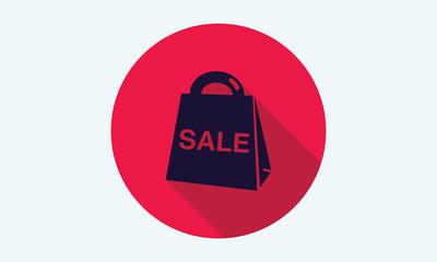 Shopping bag icon. Shopping symbol.