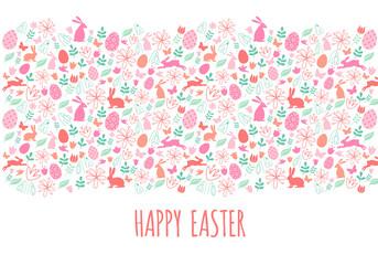 Happy Easter banner, vector