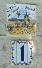 Plaque numéro de rue