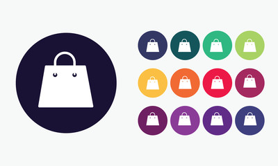Shopping bag icons.