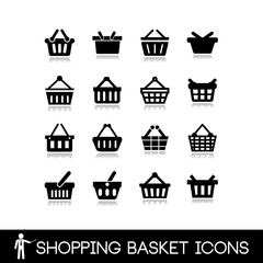 Shopping basket icons.
