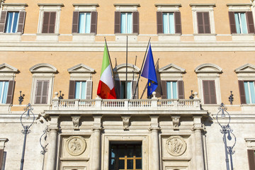 Montecitorio palace in Rome