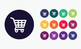 Shopping Cart  icon. poster