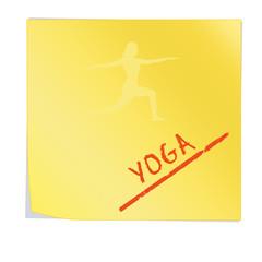 ssn12 SelfStickNotes - Haftnotiz mit Yoga Text - gelb g3206
