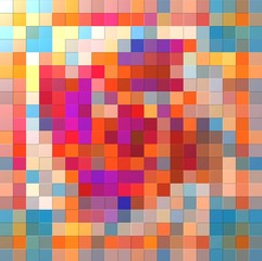 Groovy colorful relief mosaic background
