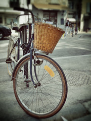 Bicycle on the street in Provence