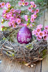 Osterei mit Text - Frohe Ostern