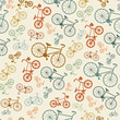 vector bicycle texture, hipster background - 78451857