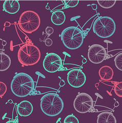 vector bicycle texture, hipster background