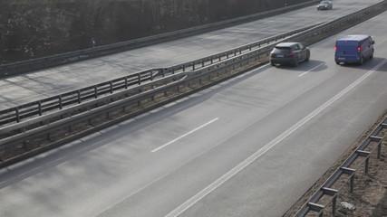 Highway traffic timelapse munich