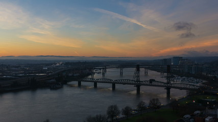 Time Lapse of Sunrise Over Portland OR One Early Morning