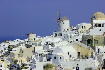 Greece, Santorini, View of city