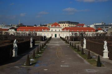 Vienna lowest Belvedere palace in winter