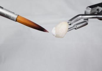 Kronen-Herstellung, Keramik Schichten