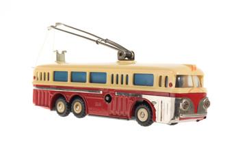 alter spielzeug bus, blechspielzeug