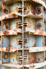 Rusty metal formwork