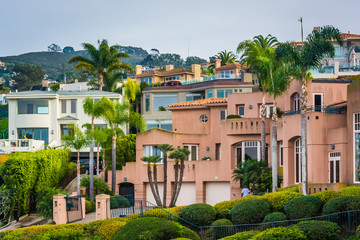 Hilltop houses in La Jolla, California.