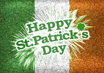 Grunge Style Happy St Patricks Day Design