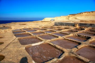 Salt panes on Gozo island