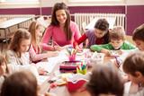 Children in elementary school on the workshop with their teacher - 78455688