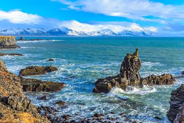 Sea Rockies in West Iceland