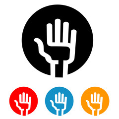 hand vector logo design template. vote or Palm icon.
