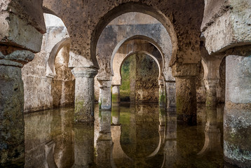 interior view of the Arab cistern Caceres Spain