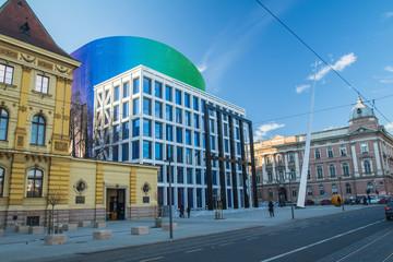 Music academy building in Zagreb, Croatia