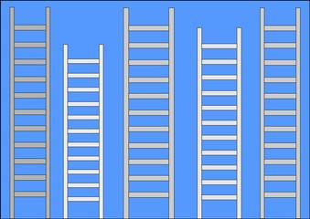 Fünf Leitern