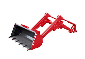 Big red excavator grab