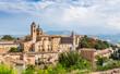 Leinwanddruck Bild - medieval castle in Urbino, Marche, Italy
