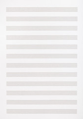 blank page of the music book