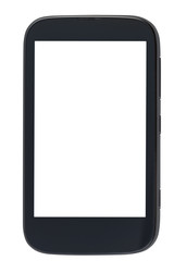 front view of smartphone with cut out screen