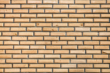 background from of facing bricks wall