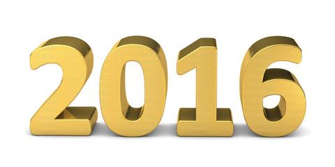 neues jahr new year text gold 2016 3D