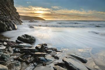 Ireland, Sunrise by ocean