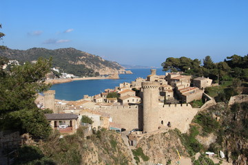 Vila Vella de Tossa de Mar. Costa Brava. Catalunya