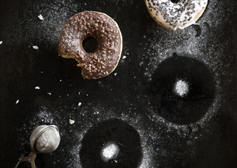 Doughnuts with sugar powder