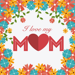 Mother day design, vector illustration.