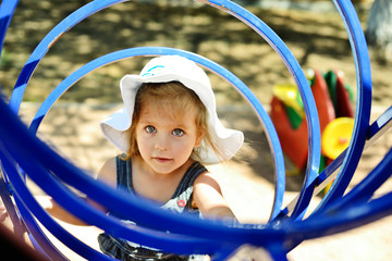 cute girl on the playground