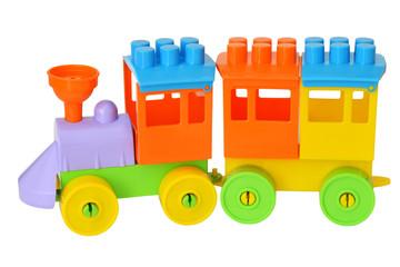 игрушечный поезд с вагоном