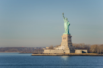 Statue of Liberty on a Winter Morning