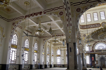 the interior of the mosque in Egypt