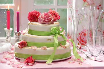 Rosen Hochzeitstorte